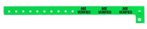 Age Verified Green Plastic Wristband
