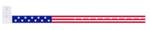 American Flag Plastic Wristband