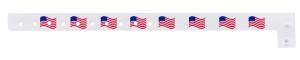 American Flag Wave Plastic Wristband