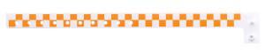 Checkered Orange Plastic Wristband