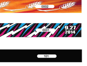 custom cloth wristbands for events: myZone Printing