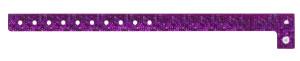 Holographic Purple Plastic Wristband