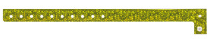 Holographic Yellow Plastic Wristband