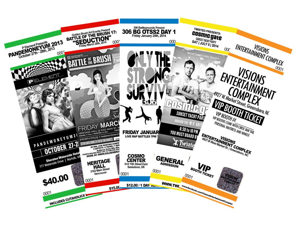 Event Ticket Printing Service from $.04 ea With Same Day Service!