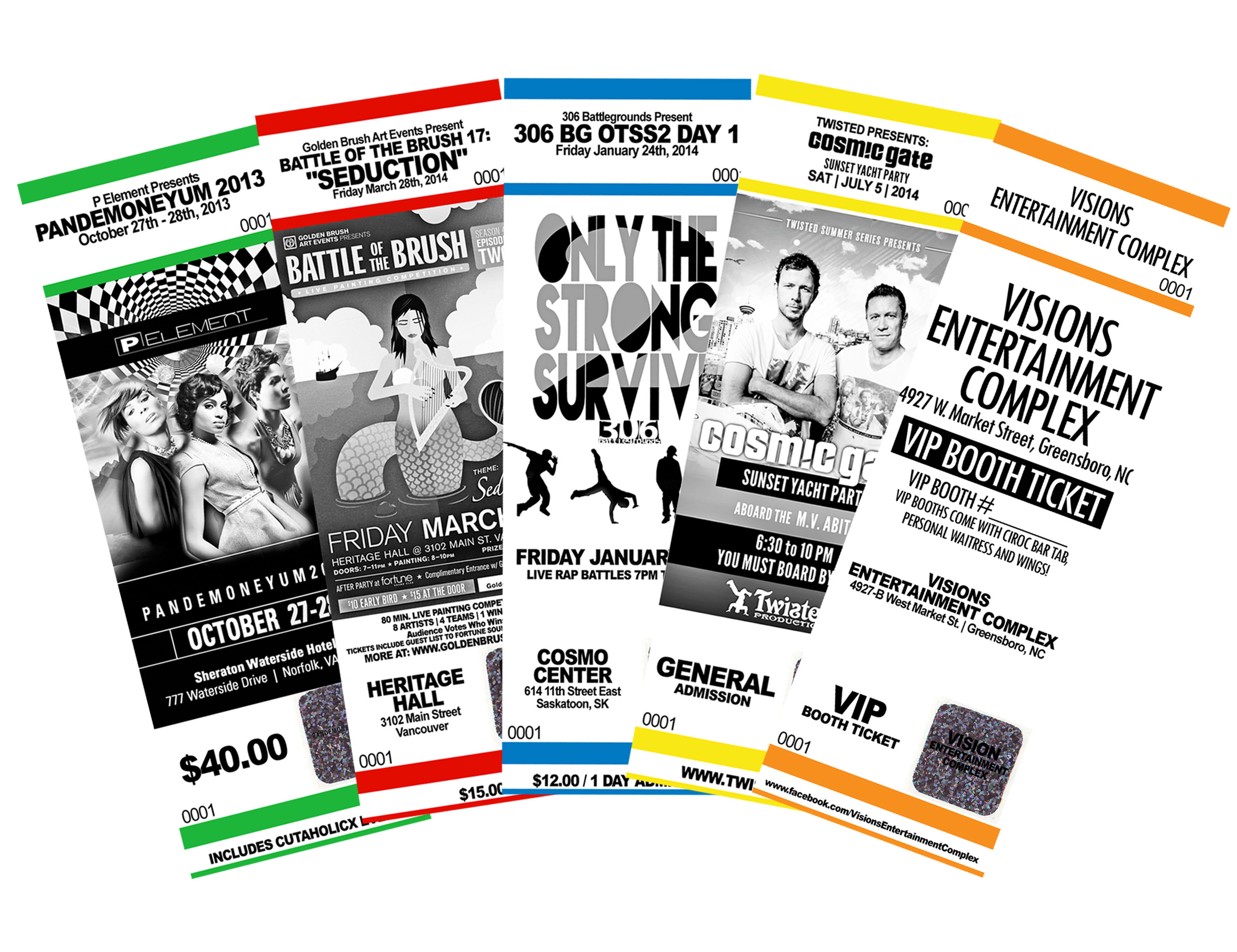 event ticket printing service from 04 ea with same day service