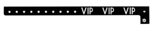 VIP Black Plastic Wristband