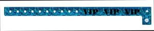 VIP Holographic Blue Plastic Wristband