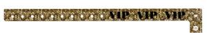VIP Holographic Gold Plastic Wristband