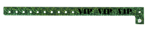 VIP Holographic Green Plastic Wristband