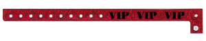 VIP Holographic Red Plastic Wristband