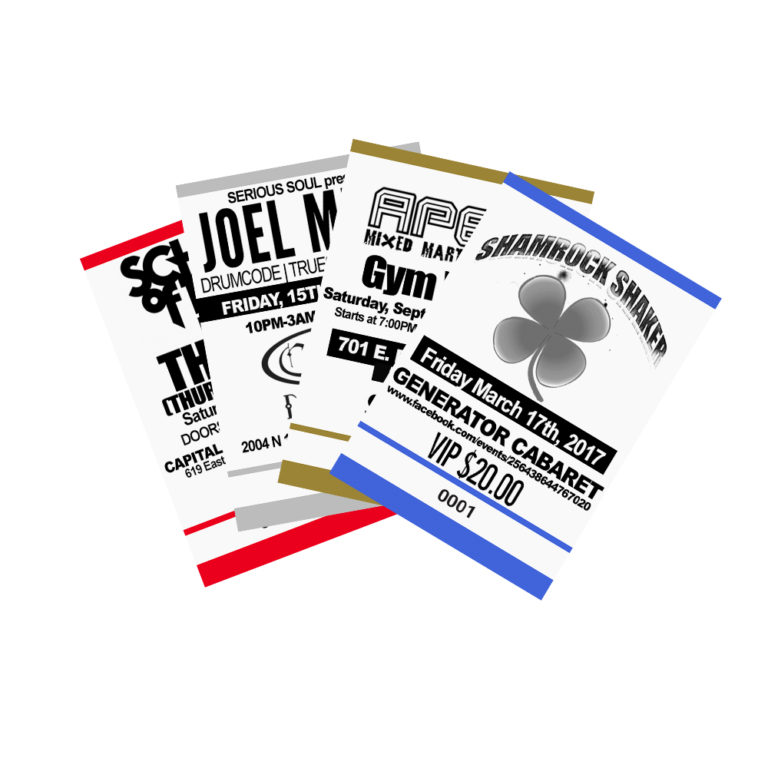 custom ticket printing services from 04 w same day service
