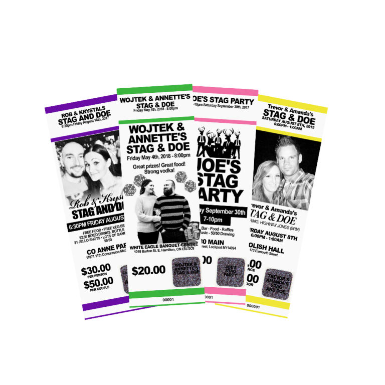 custom stag tickets myzone printing