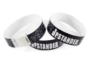 custom black tyvek wristbands