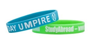 Debossed with Single Color Fill Silicone Wristbands