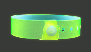 vinyl edge glow wristbands