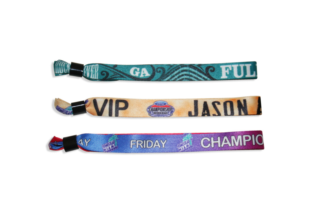 cloth waterproof wristbands are the most durable wristbands available and are great for extended use