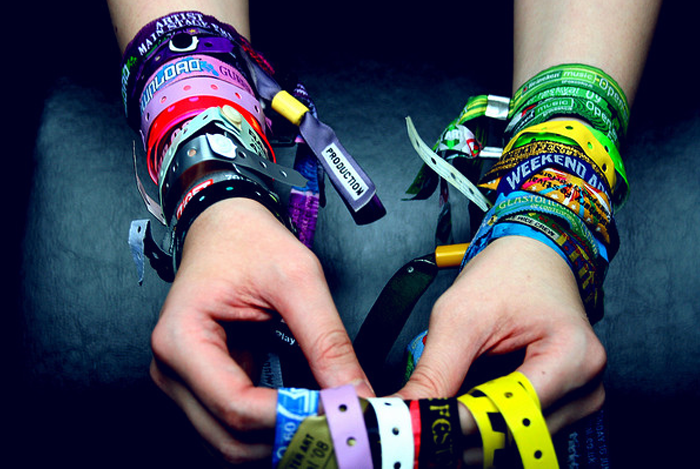 A lot of festival goers like to hang on to their wristbands, which results in added marketing for you and your sponsors.