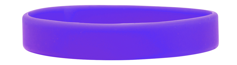 Purple Custom Debossed Silicone Wristbands