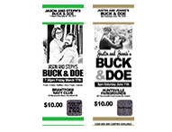 Personalise And Create Your Own Buck Doe Tickets Get Professionally Made Include Custom Text Image Graphics