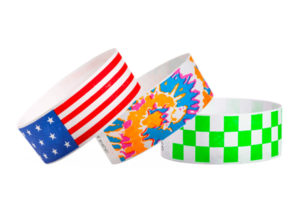 1 inch Tyvek Wristbands